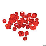 Ruby Crystal Bicone Beads - 4mm-6mm