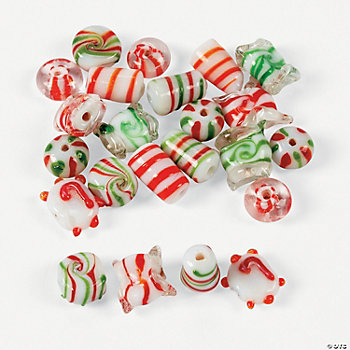 Candy Cane Beads - 5mm-15mm