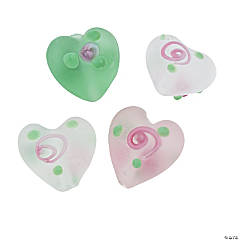 Heart with Rose Beads - 15mm