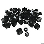 Jet Black Crystal Bicone Beads - 4mm-6mm