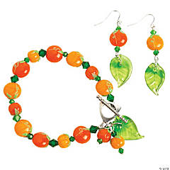 Autumn Pumpkin and Crystal Earrings Project Idea