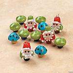 Gnome & Mushroom Lampwork Glass Beads - 10mm - 15mm