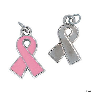 Pink Ribbon Charms