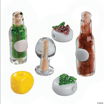 Wine Lover Lampwork Beads - 12mm - 28mm