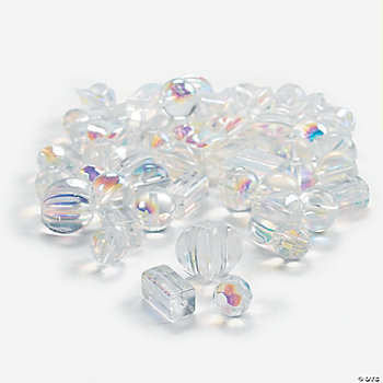 Clear AB Finish Bead Assortment - 8mm-12mm