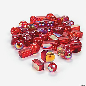Red AB Finish Bead Assortment - 8mm-12mm