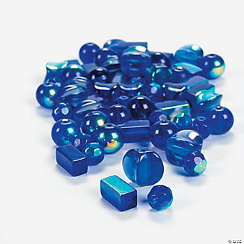 Blue AB Finish Bead Assortment - 8mm-12mm