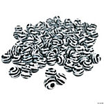 Black & White Animal Print Bead Assortment - 11mm