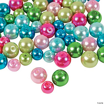 Bright Pearl Bead Assortment - 6mm-8mm