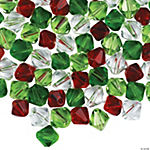 Christmas Cut Crystal Bead Assortment - 6mm-8mm