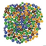Mardi Gras Colored Bead Assortment - 5mm-8mm