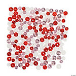 Red, Pink & White Bead Assortment - 5mm-8mm