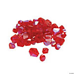 Garnet AB Cut Crystal Bicone Beads - 4mm-6mm