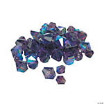 Amethyst AB Cut Crystal Bicone Beads - 4mm-6mm