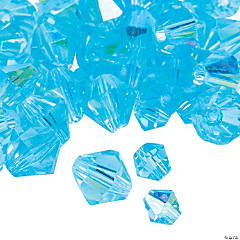 Aquamarine Aurora Borealis Cut Crystal Bicone Beads - 4mm-6mm