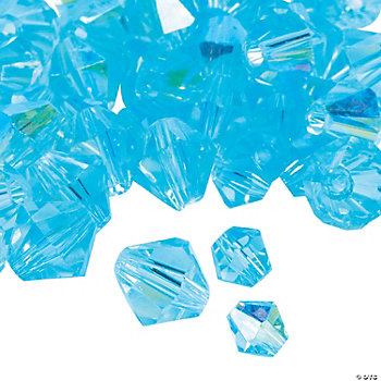 Aquamarine AB Cut Crystal Bicone Beads - 4mm-6mm