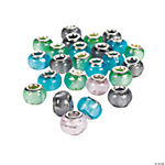 Foil Large Hole Beads - 14mm