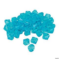 Aquamarine Crystal Bicone Beads - 8mm