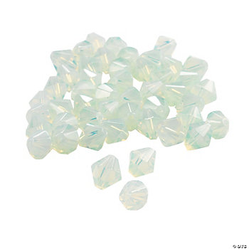 Moonstone Crystal Bicone Beads - 8mm
