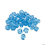 Blue Topaz Crystal Bicone Beads - 8mm