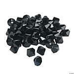 Jet Black Crystal Bicone Beads - 8mm