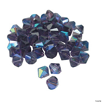 Amethyst AB Crystal Bicone Beads - 8mm
