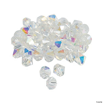 Clear AB Crystal Bicone Beads - 8mm