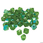 Emerald AB Cut Crystal Bicone Beads - 8mm