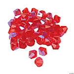 Ruby AB Crystal Bicone Beads - 8mm