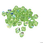 Peridot AB Crystal Bicone Beads - 8mm