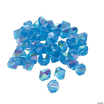 Blue Topaz AB Crystal Bicone Beads - 8mm