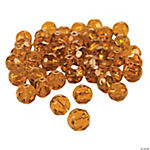 Topaz Cut Crystal Round Beads - 8mm