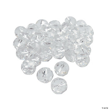 Clear Cut Crystal Round Beads - 8mm