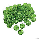 Emerald Cut Crystal Round Beads - 8mm
