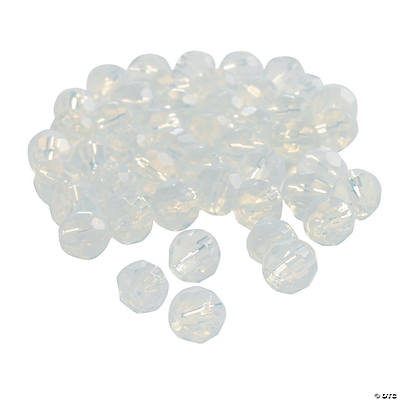 Moonstone Cut Crystal Round Beads - 8mm