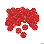 Ruby Cut Crystal Round Beads - 8mm