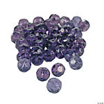 Amethyst Cut Crystal Round Beads - 8mm