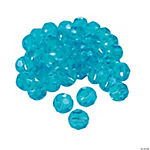 Aquamarine Cut Crystal Round Beads - 8mm