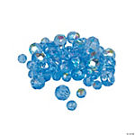 Blue Topaz AB Cut Crystal Round Beads - 4mm-6mm