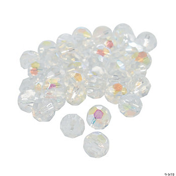 Clear AB Cut Crystal Round Beads - 8mm