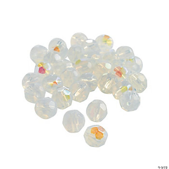 Moonstone AB Cut Crystal Round Beads - 8mm