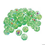 Peridot AB Cut Crystal Round Beads - 8mm