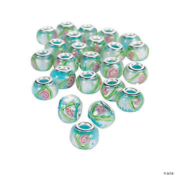 Rose Large Hole Beads - 14mm