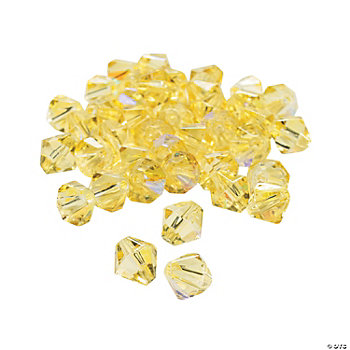 Canary Yellow AB Cut Crystal Bicone Beads - 8mm
