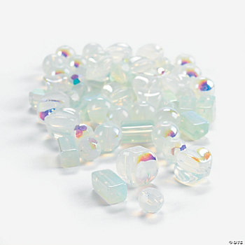 Moonstone AB Finish Bead Assortment -  8mm-12mm