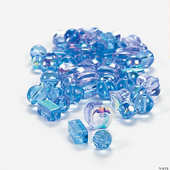 Blue Topaz AB Finish Bead Assortment -  8mm-12mm
