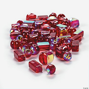 Garnet AB Finish Bead Assortment -  8mm-12mm