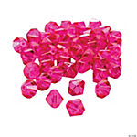 Fuchsia Cut Crystal Bicone Beads - 8mm
