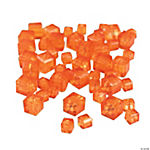 Orange Sunset Cube Cut Crystal Beads - 4mm-6mm