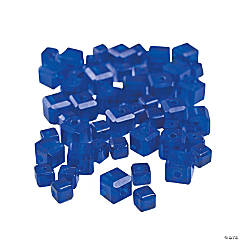 Sapphire Cube Cut Crystal Beads - 4mm-6mm